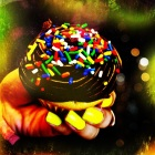 cute cupcake art and manicures